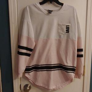 Love color block sweatshirt
